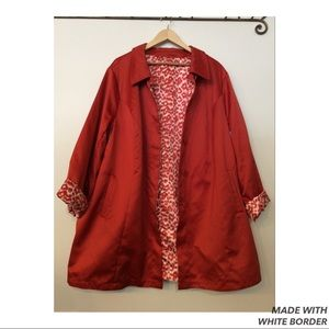 Dennis Basso Reversible Trench Coat